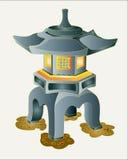 Japanese garden stone lantern. Royalty Free Stock Image