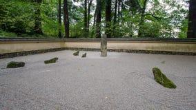 Japanese garden Portland. Japanese stone in japanese garden at portland oregon Royalty Free Stock Photo