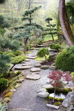 Japanese garden path Stock Photo