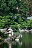 Japanese garden. A Japanese garden during summer, Tokyo Stock Image