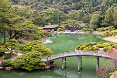 Japanese Garden in Takamatsu stock images