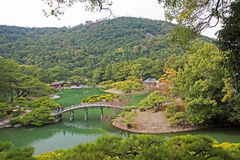 Japanese Garden in Takamatsu stock image
