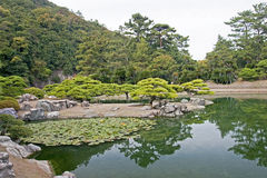 Japanese Garden in Takamatsu stock photo
