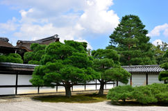 Japanese garden at temple, Kyoto Japan Royalty Free Stock Photography