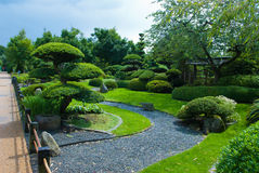 Japanese garden topiary. In green style Royalty Free Stock Image