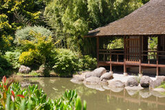 Japanese garden in Toulouse Stock Photos