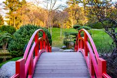 Japanese garden in Toulouse, France stock photo