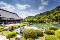 Japanese garden, view of Japanese stone garden,  Stock Photos