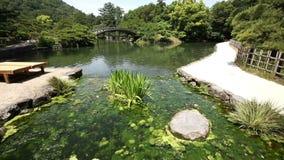 Japanese garden stock video