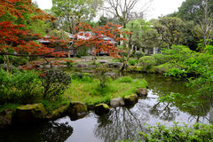 Japanese Garden. This garden was located in campus area at Kagoshima University Stock Image