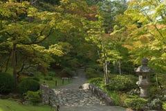 Japanese Garden in Washington Park Arboretum, Seattle, Washington. In early fall Royalty Free Stock Photos