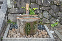 Japanese Garden Water Bowl Royalty Free Stock Images