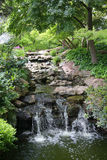 Japanese garden waterfall view Stock Photography