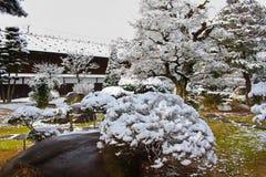 Japanese Garden in Winter Stock Image