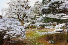 Japanese Garden in Winter Stock Photography