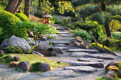 Japanese garden path Stock Photos