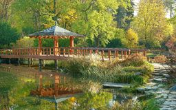 Japanese garden wroclaw stock image