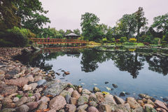 Japanese Garden in Wroclaw, Poland Royalty Free Stock Photography