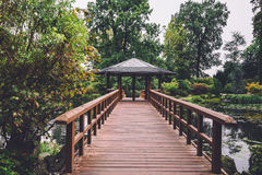 Japanese Garden in Wroclaw, Poland Royalty Free Stock Image
