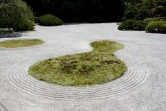 Japanese garden zen rock sand Stock Image