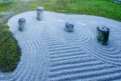 Japanese garden , zen stone as pattern.  Royalty Free Stock Photography