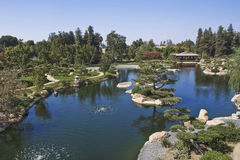 Japanese Gardens. Wide view overlooking japanese gardens Royalty Free Stock Images