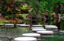 Japanese gardens in America. stock photos