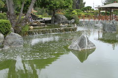 Japanese gardens in La Serena Chile Royalty Free Stock Image