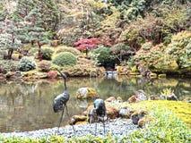 Japanese Gardens Portland Oregon Stock Photo