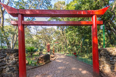 Japanese gardens at Ribeirão Preto city zoo Fabio Barreto. Sao Royalty Free Stock Photography