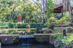 Japanese gardens at Ribeirão Preto city zoo Fabio Barreto. Sao Royalty Free Stock Photos