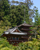 Japanese Gardens in San Francisco Golden Gate Park. Japanese building in San Francisco Golden Gate Park Stock Image