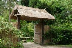 Japanese Gate. In formal garden Stock Photos