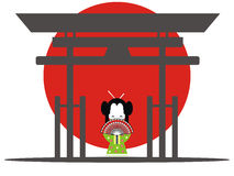 Japanese gate Royalty Free Stock Photo