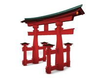 Japanese gate-Torii Royalty Free Stock Photo