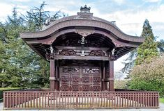 Japanese Gateway in Kew gardens in London Stock Photo