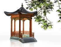 Japanese gazebo Stock Image