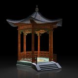 Japanese gazebo Royalty Free Stock Photos