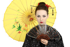 Japanese geisha Royalty Free Stock Photo