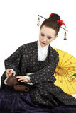 Japanese geisha Royalty Free Stock Image