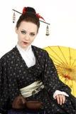 Japanese geisha stock photo