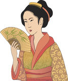 Japanese geisha Stock Photos