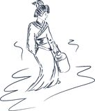 Japanese geisha Stock Image