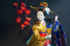 Japanese Geisha Doll Stock Photo