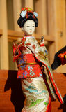 Japanese geisha doll Royalty Free Stock Photo