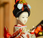 Japanese geisha doll Royalty Free Stock Photography