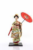 Japanese geisha dolls. Royalty Free Stock Photo