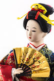 Japanese geisha dolls. Japanese geisha dolls on white background Stock Images