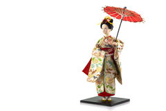 Japanese geisha dolls. Japanese geisha dolls on white background Royalty Free Stock Photos