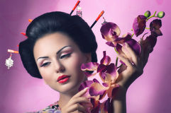 Japanese Geisha woman Royalty Free Stock Photography